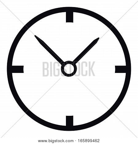 Small wall clock icon. Simple illustration of small wall clock vector icon for web