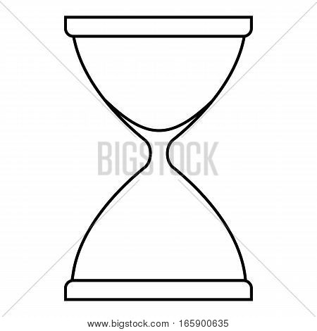 Sandglass icon. Outline illustration of sandglass vector icon for web