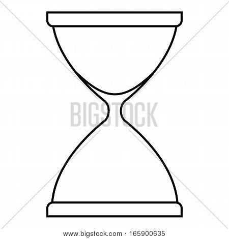 Sandglass icon. Outline illustration of sandglass vector icon for web