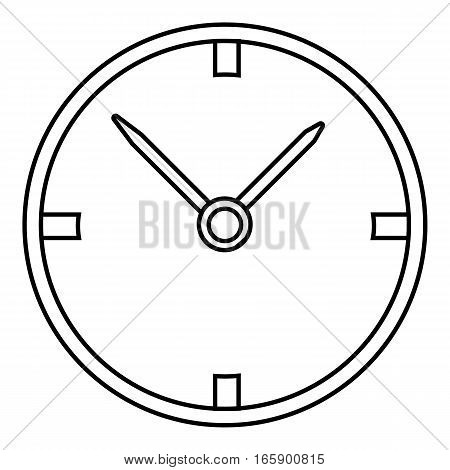 Small wall clock icon. Outline illustration of small wall clock vector icon for web