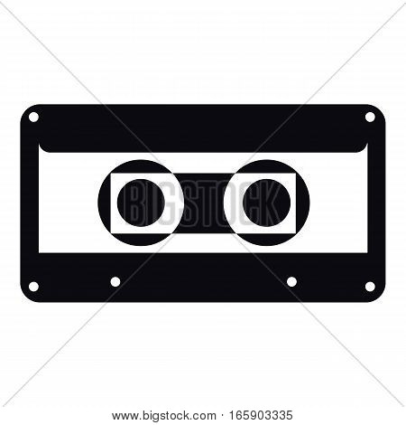 Cassette icon. Simple illustration of cassette vector icon for web
