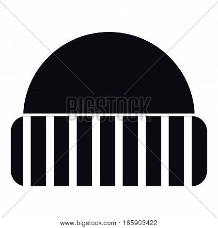 Warm hat icon. Simple illustration of warm hat vector icon for web