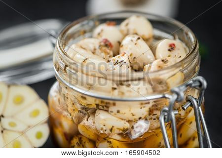 Portion Of Preserved Garlic