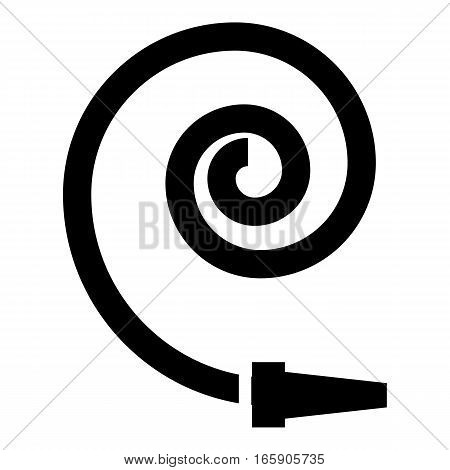 Hose icon. Simple illustration of hose vector icon for web