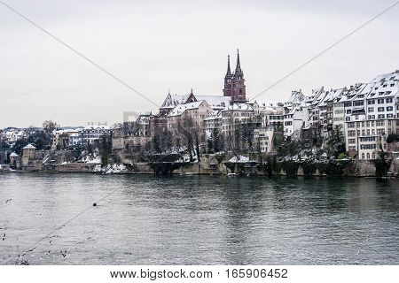 Winter on Christmas time in Basel, Switzerland