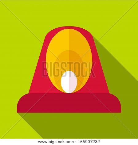 Fire flasher icon. Flat illustration of fire flasher vector icon for web