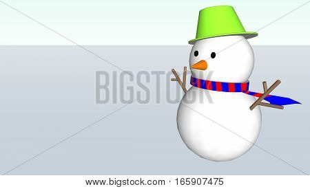 Snowman Christmas and the white back ground