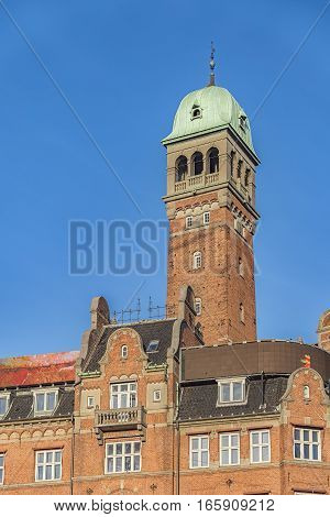 This building is situated on City Hall Square in Copenhagen Denmark.