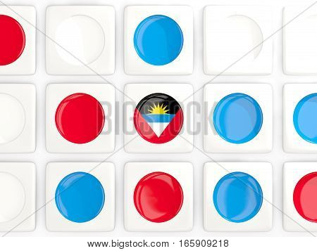 Mosaic Background With Flag Of Antigua And Barbuda