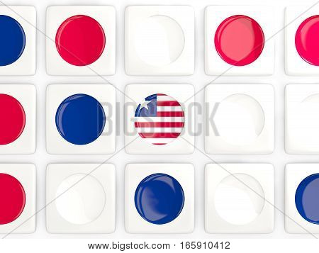 Mosaic Background With Flag Of Liberia