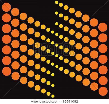 Abstract Orange On Black