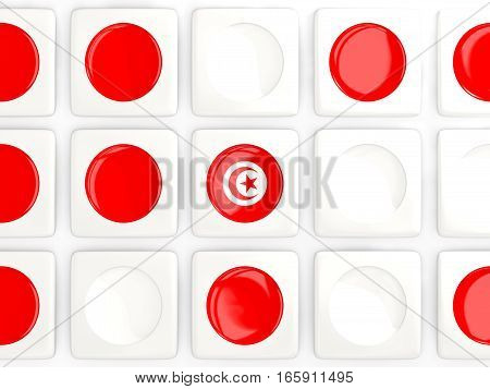 Mosaic Background With Flag Of Tunisia