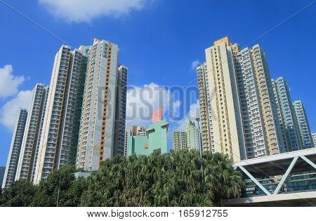 HONG KONG - NOVEMBER 7, 2016: Residential apartment building in Lantau island