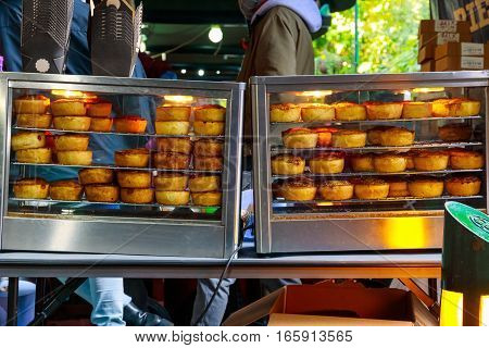 Hot Meat Pies On Display