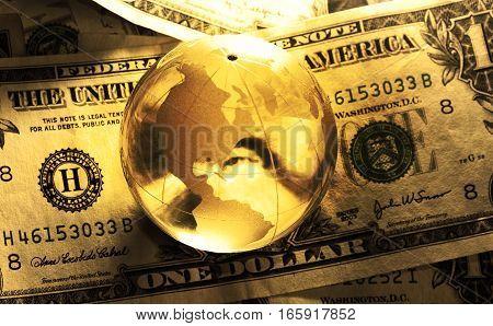 Dollar Bill Globe