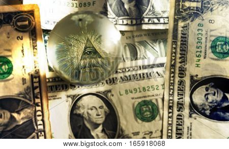 Usd Dollar Bill Eye Pyramid Mason