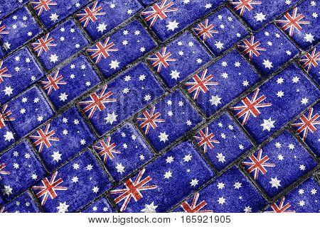 Australia Flag Urban Grunge Pattern