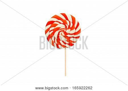 a colorful candy isolated on white background
