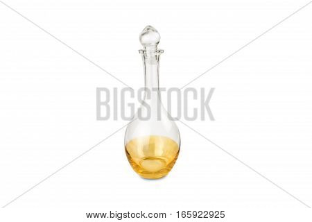 a glass carafe isolated on white background