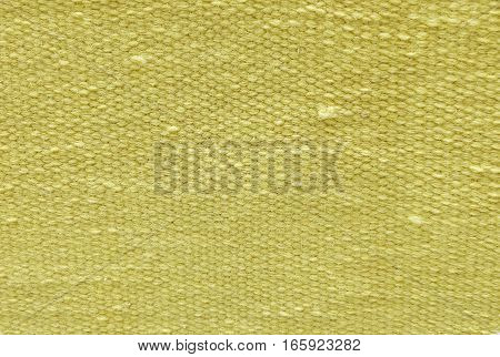 Fabric Texture Close Up of Yellow Cotton Pattern Background with Copy Space for Text Decoration.