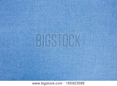 Fabric Texture Close Up of Blue Cotton Fabric Texture Pattern Background in Pastel Colors Tone.