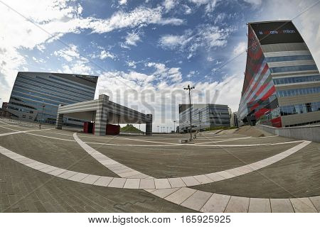 MILAN, ITALY - AUGUST 9, 2016: Milan (Lombardy Italy): modern office buildings in the new Portello area