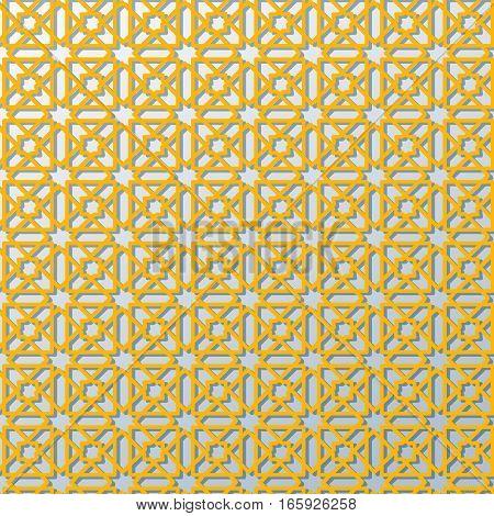 Islamic design seamless pattern Morocco  yellow color