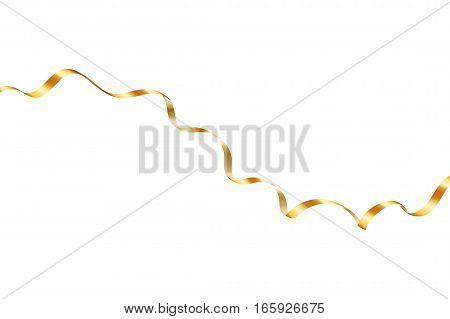 Gold Curly Ribbon
