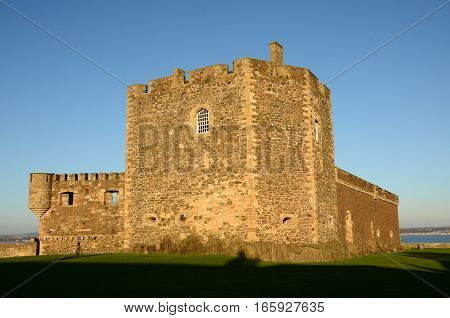 An external view of the medieval castle at Blackness