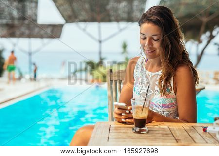 Relaxing Next To The Pool