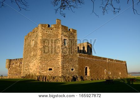 An external view of medieval Blackness castle