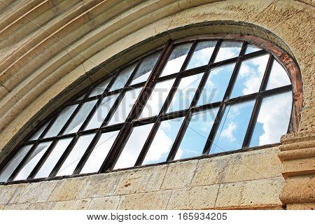 Window of old orthodox monastery Gelati, near Kutaisi - Georgia. Unesco place