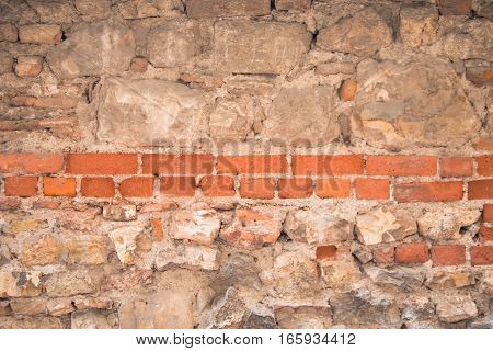 Stone Wall - Background Rustic Wall in a Old Construction.