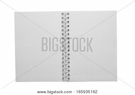 empty paper notepad isolated on white background