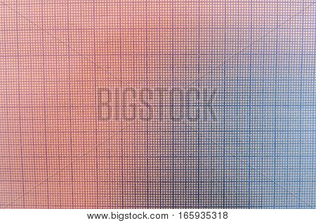 blue graph paper for design as background