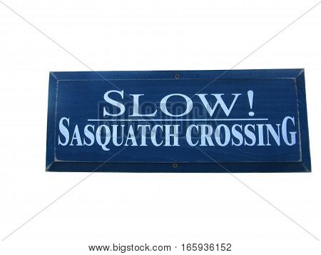 Clipping Path for Slow Sasquatch Crossing Sign