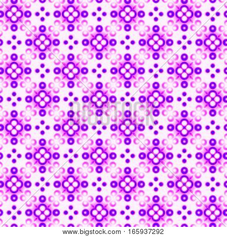 Abstract violet and pink tile pattern. Purple mosaic texture background.  Seamless illustration.