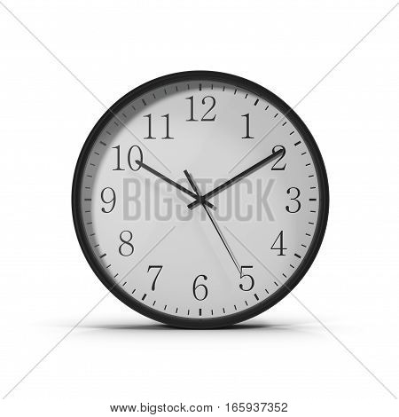 classic Office clock on white background. 3D illustration