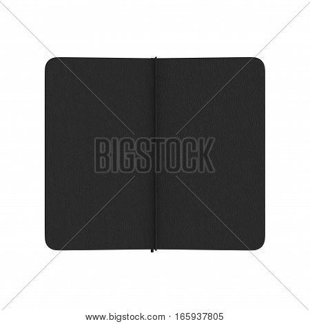 Leather Desk Journal on white background. 3D illustration