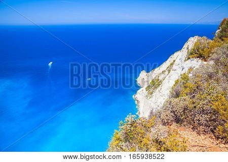 Navagio Bay Landscape. Rocky Coast
