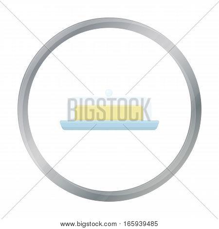 Butter icon cartoon. Single bio, eco, organic product icon from the big milk cartoon. - stock vector
