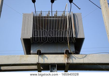 large electric transformer are used in factories