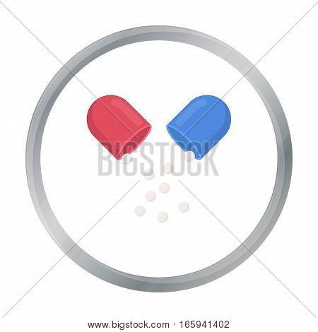 Pill icon cartoon. Single medicine icon from the big medical, healthcare cartoon. - stock vector