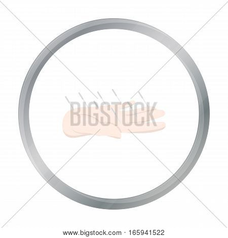 Acupuncture icon cartoon. Single medicine icon from the big medical, healthcare cartoon. - stock vector
