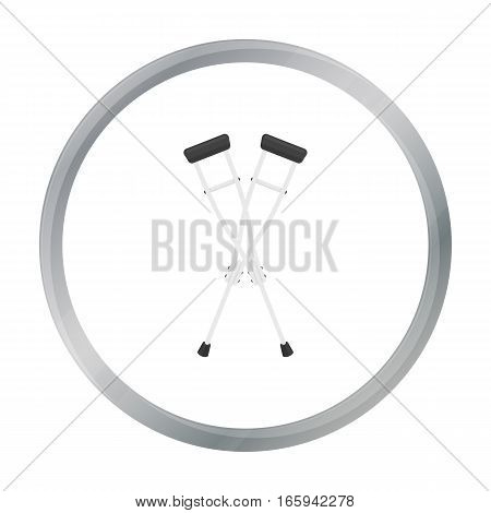 Crutches icon cartoon. Single medicine icon from the big medical, healthcare cartoon. - stock vector