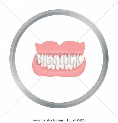 Jaw icon cartoon. Single medicine icon from the big medical, healthcare cartoon. - stock vector