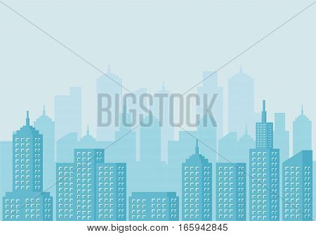Urban landscape. Modern City scape background .