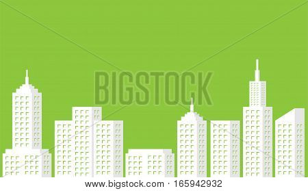 Urban landscape. Modern City scape . Green Cityscape . Eco city. Ecology