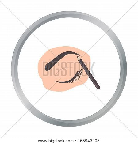 Painted eyebrows icon in cartoon style isolated on white background. Make up symbol vector illustration.
