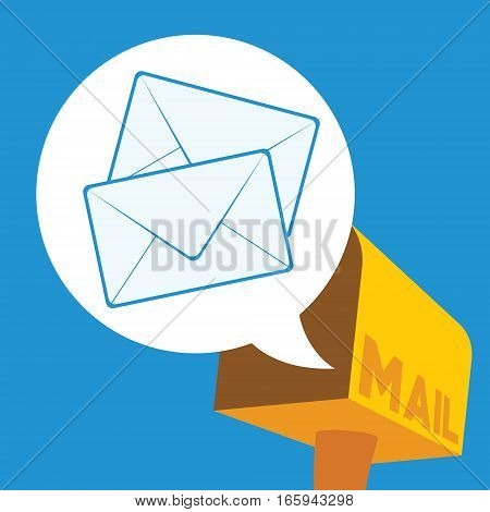 inbox new unread email with mailbox vector illustration